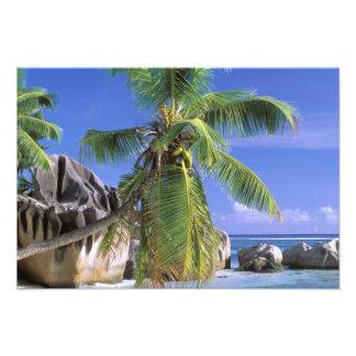 Africa, Seychelles, La Digue Island. Granite 2 Photo Print