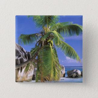Africa, Seychelles, La Digue Island. Granite 2 Pinback Button