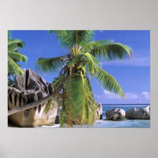 Africa, Seychelles, La Digue Island. Granite 2 Poster