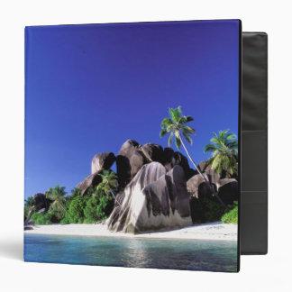 Africa, Seychelles, La Digue Island. Granite 3 Vinyl Binders