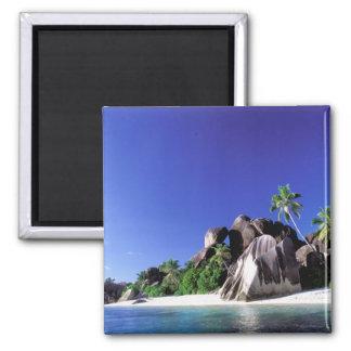 Africa, Seychelles, La Digue Island. Granite 3 Magnet