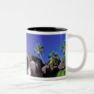 Africa, Seychelles, La Digue Island. Granite 3 Two-Tone Coffee Mug