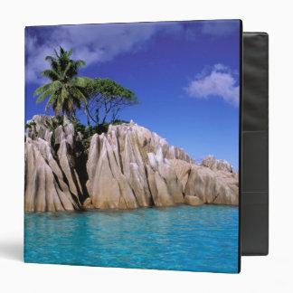 Africa, Seychelles, La Digue Island. Granite 3 Ring Binders