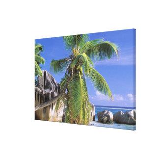 Africa, Seychelles, La Digue Island. Granite Canvas Print