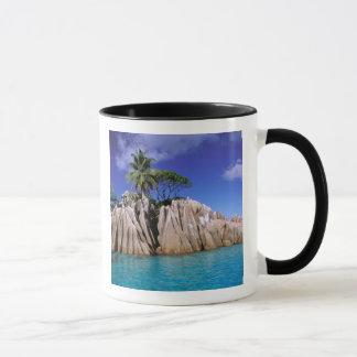 Africa, Seychelles, La Digue Island. Granite Mug