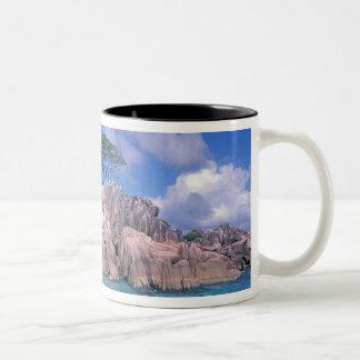 Africa, Seychelles, Praslin Island, St. Pierre Two-Tone Coffee Mug