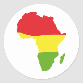 africa shape flag classic round sticker