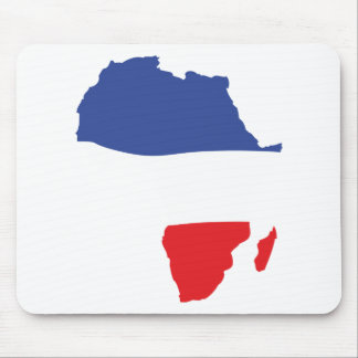 africa shape french flag mouse pad