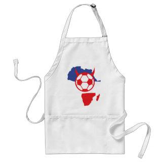 africa shape french soccer devil adult apron