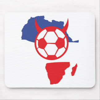 africa shape french soccer devil mouse pad