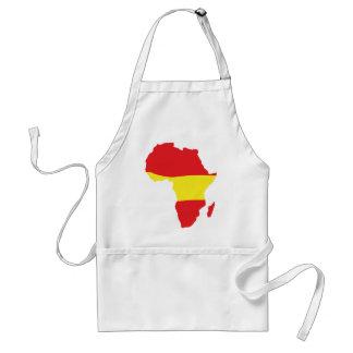 africa shape spain flag adult apron