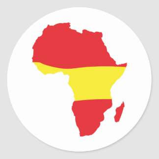 africa shape spain flag classic round sticker