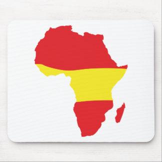 africa shape spain flag mouse pad