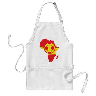 africa shape spain soccer flag adult apron