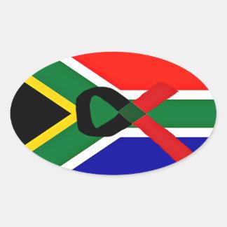 África, SIDA Awareness_ Pegatina Oval