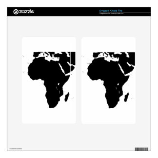 Africa Silhouette Kindle Fire Decals