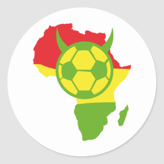 africa soccer devil football classic round sticker