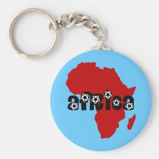 Africa soccer keychain