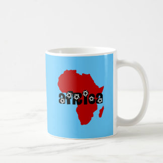 Africa soccer classic white coffee mug