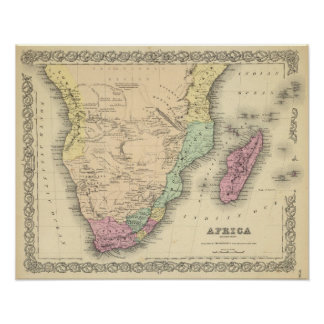 Africa Southern Sheet Poster