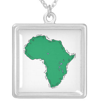 Africa Square Pendant Necklace