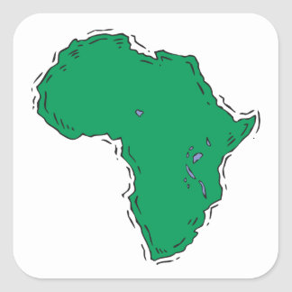 Africa Square Sticker