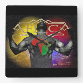 Africa Square Wall Clock