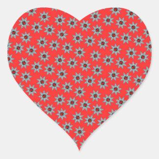 Africa Stars Modern Pattern Heart Sticker