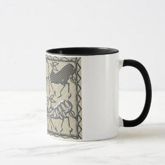 Africa steel on cement mug