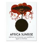 Africa sunrise customisable 4.25x5.5 paper invitation card