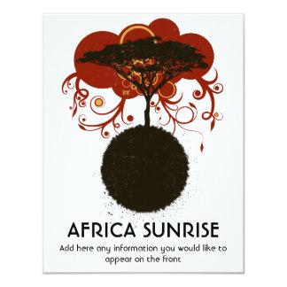 Africa sunrise customisable card