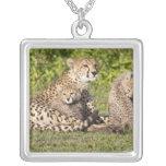 Africa. Tanzania. Cheetah mother and cubs 2 Pendants