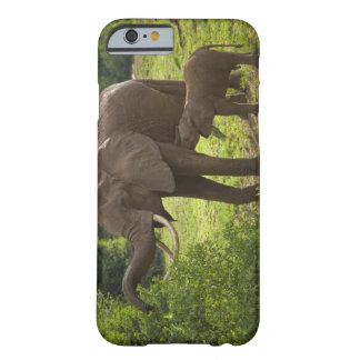 Africa. Tanzania. Elephant mother and calf at 2 Barely There iPhone 6 Case
