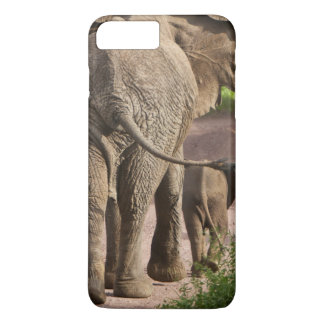 Africa. Tanzania. Elephant mother and calf at iPhone 8 Plus/7 Plus Case