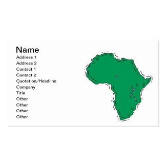 África Tarjetas De Visita