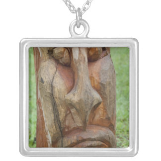 Africa, Togo, Kpalime. Artisan handicraft center 2 Silver Plated Necklace