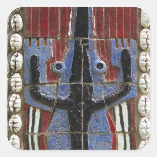 Africa, Togo, Kpalime. Artisan handicraft center Square Sticker