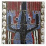 África, Togo, Kpalime. Centro de la artesanía del  Azulejo Cuadrado Grande