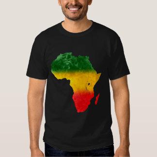 África topográfica tricolora camisas