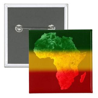 África topográfica tricolora II Pin Cuadrado