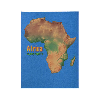 Africa Topographic poster