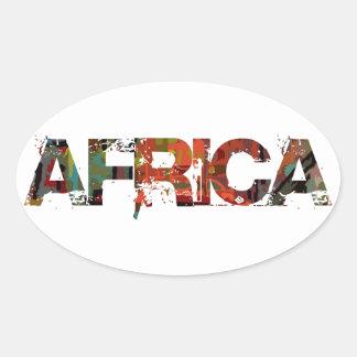 AFRICA transfer Oval Sticker