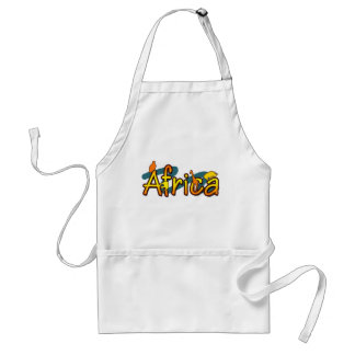 Africa trendy cool and fun design bbq aprons