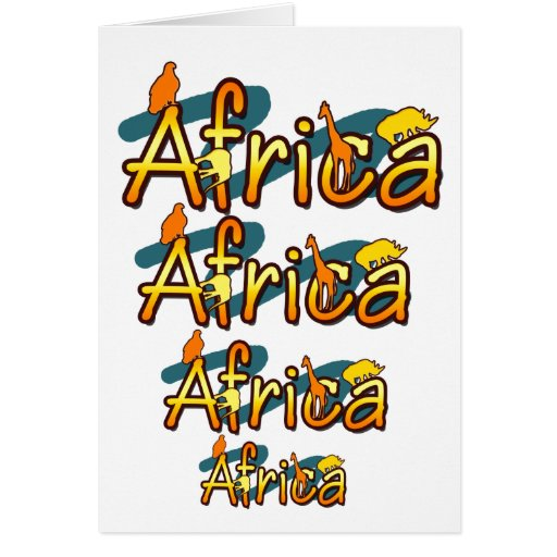 Africa trendy cool and fun design cards