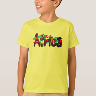 Africa trendy cool & fun wild graphic kids t-shirt