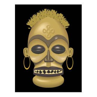 África tribal (safari): Máscara africana Postales