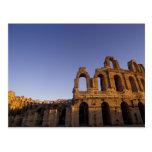 África, Túnez, EL Jem. Ruinas de 2 romanos Postal