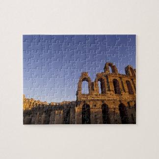 África, Túnez, EL Jem. Ruinas de 2 romanos Rompecabeza