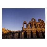 África, Túnez, EL Jem. Ruinas de 2 romanos Tarjeta De Felicitación
