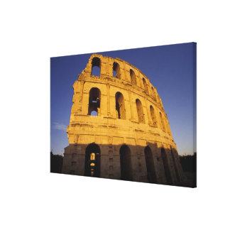 África, Túnez, EL Jem. Ruinas de 3 romanos Impresion De Lienzo
